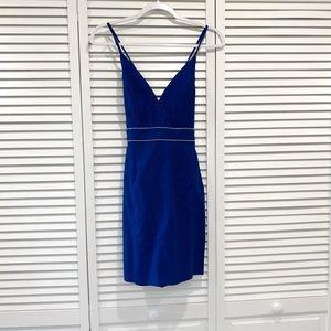 NWT Fashionnova Blue Bedazzled Mini Dress